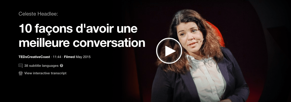 celeste headlee conversations TED Talk